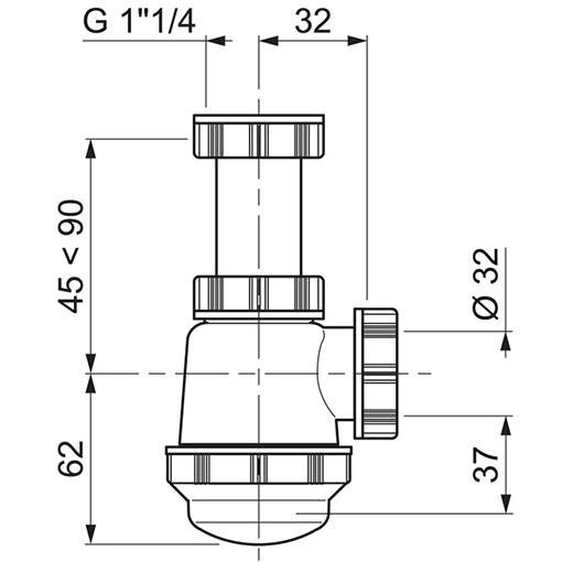 TECHNICAL DRAWING schema-siphon-bidet
