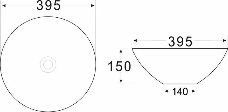 TECHNICAL DRAWING schema-vasque-art
