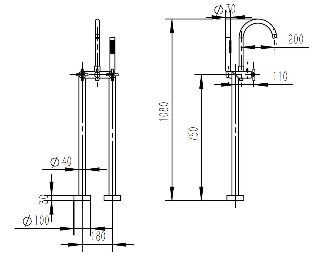 TECHNICAL DRAWING schema-melangeur-baignoire-au-so