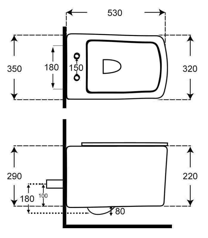 TECHNICAL DRAWING schema-wc-suspendu-pelza