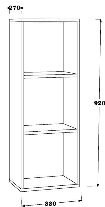 TECHNICAL DRAWING schéma demi-colonne Essentiel