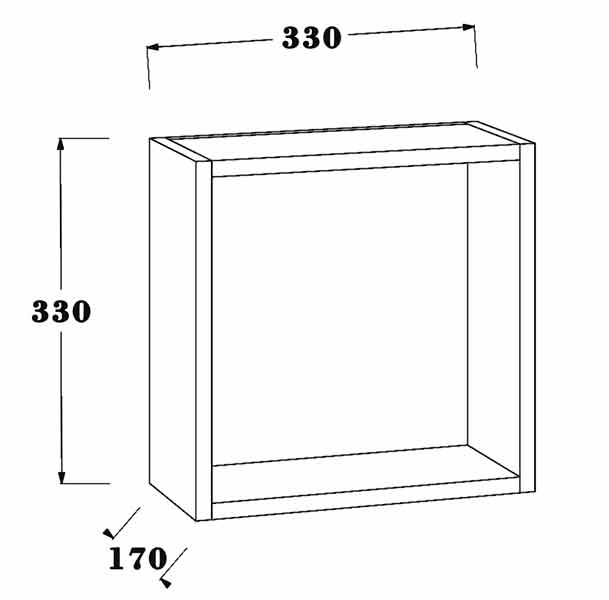TECHNICAL DRAWING schéma rangement cubo