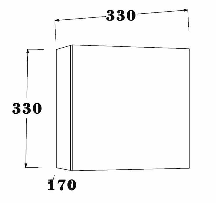TECHNICAL DRAWING schéma Cubo avec porte