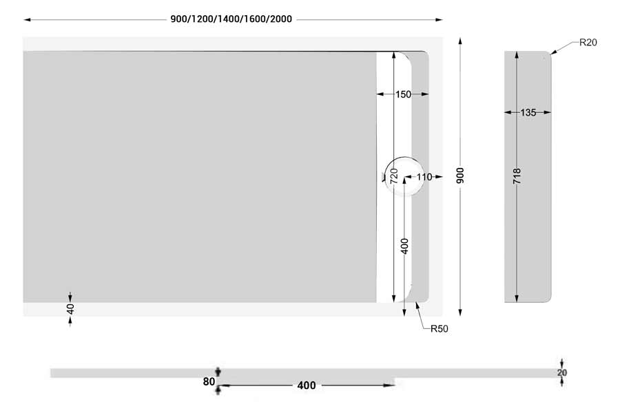 TECHNICAL DRAWING schema-apolo-lateral-90 cm