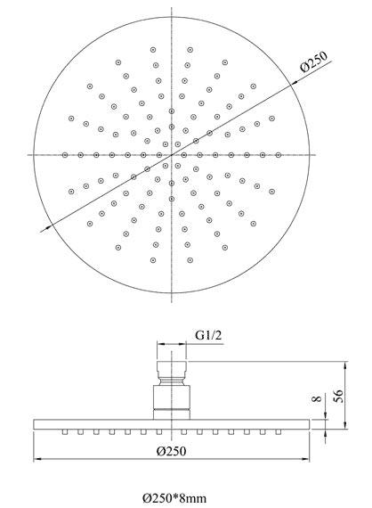 TECHNICAL DRAWING tech-douche-de-tete-ronde-25cm-(