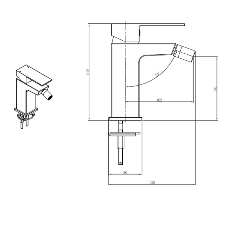 TECHNICAL DRAWING schéma tuileries bidet