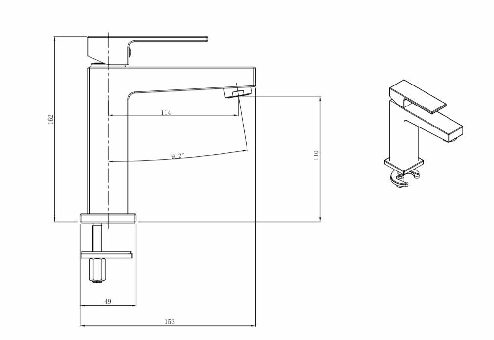 TECHNICAL DRAWING tuileries-lavabo