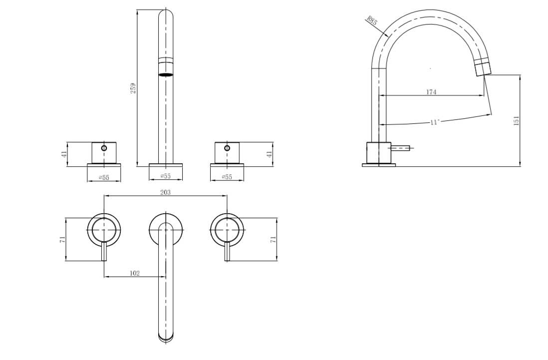 TECHNICAL DRAWING schema-robinet-melangeur-chatele