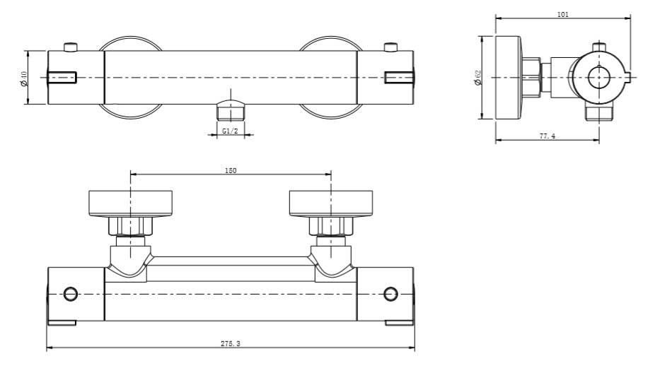 TECHNICAL DRAWING schema-thermostatique-douche