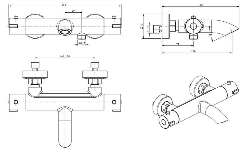 TECHNICAL DRAWING schema-bain thermostatique
