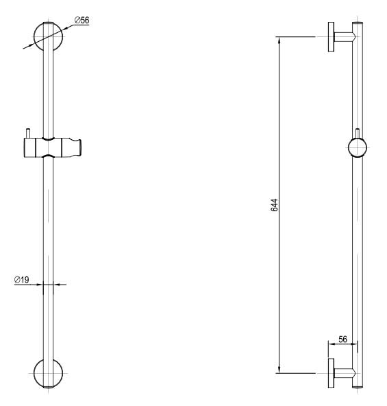 TECHNICAL DRAWING schema-barre-douche-coulissante