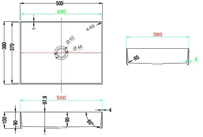 TECHNICAL DRAWING schema Art inox 50x38 cm