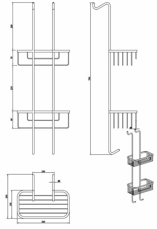 TECHNICAL DRAWING schema-etagere-double-wb30
