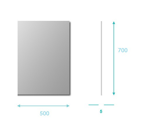 TECHNICAL DRAWING Miroir-simple-50x70