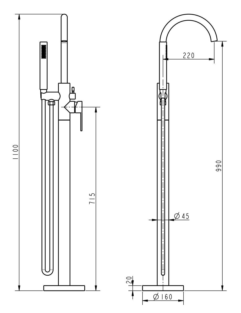 TECHNICAL DRAWING 1. schema-bain-douche-sol-louvre