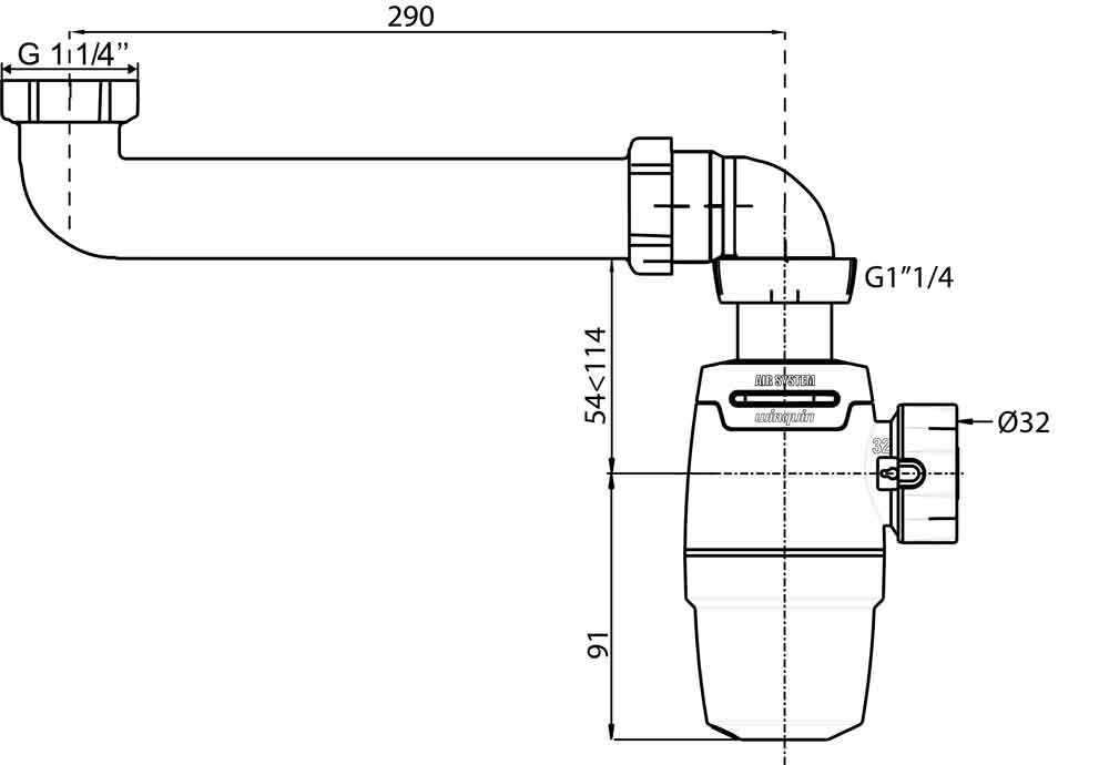 TECHNICAL DRAWING schema-siphon-neo-air