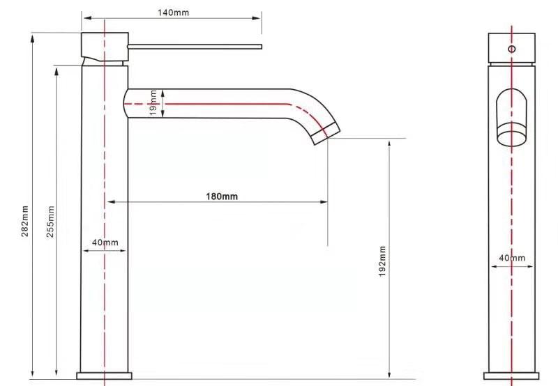 TECHNICAL DRAWING schema-robinet-sureleve-lavabo