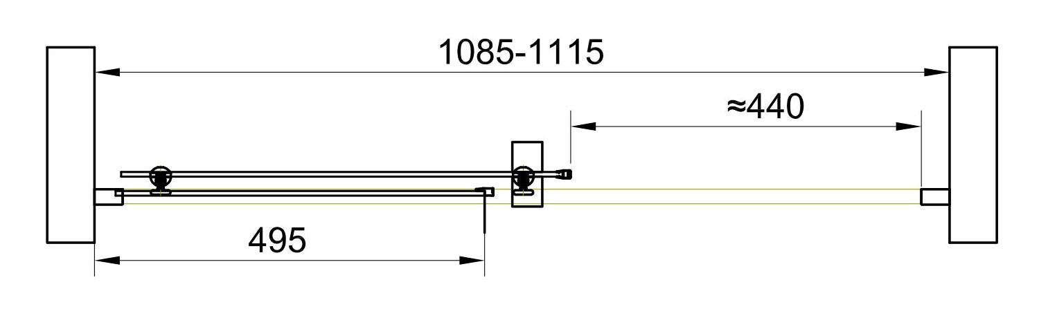 TECHNICAL DRAWING schema-porte-lerida-110cm