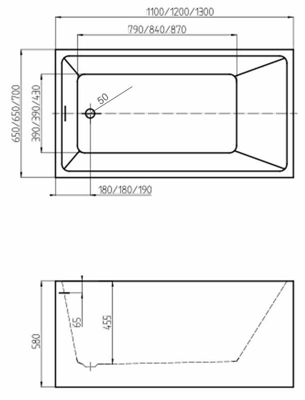 TECHNICAL DRAWING schema-baignoire-little
