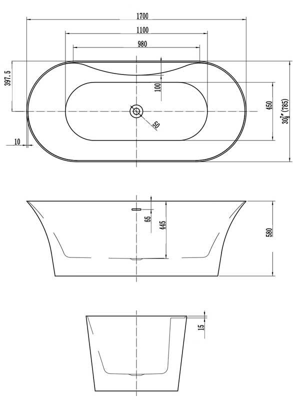 TECHNICAL DRAWING schema-baignoire-curve-1700