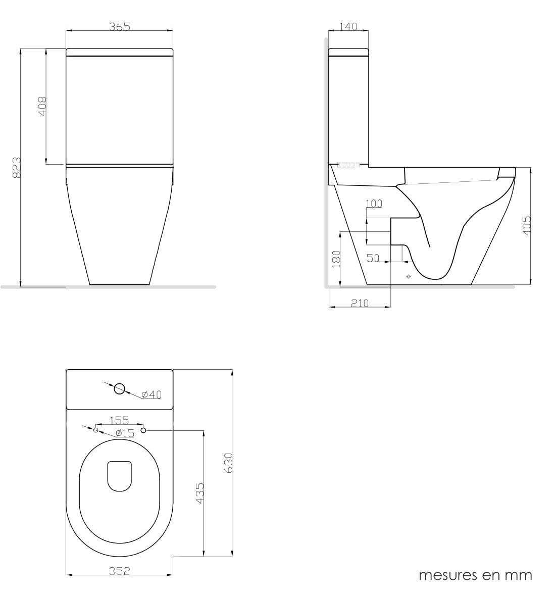 TECHNICAL DRAWING schema-wc-alix