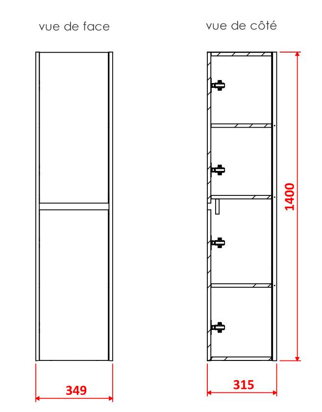 TECHNICAL DRAWING Colonne-CARUSO-2-portes