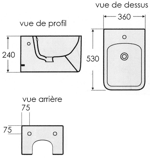 TECHNICAL DRAWING schema-bidet-pelza