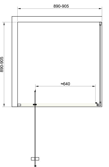 TECHNICAL DRAWING schema-cabine-malaga-90cm