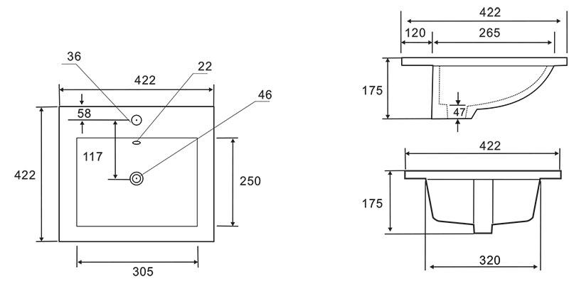 TECHNICAL DRAWING schema-vasque-amiri