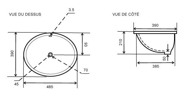 TECHNICAL DRAWING schema-vasque-cervas