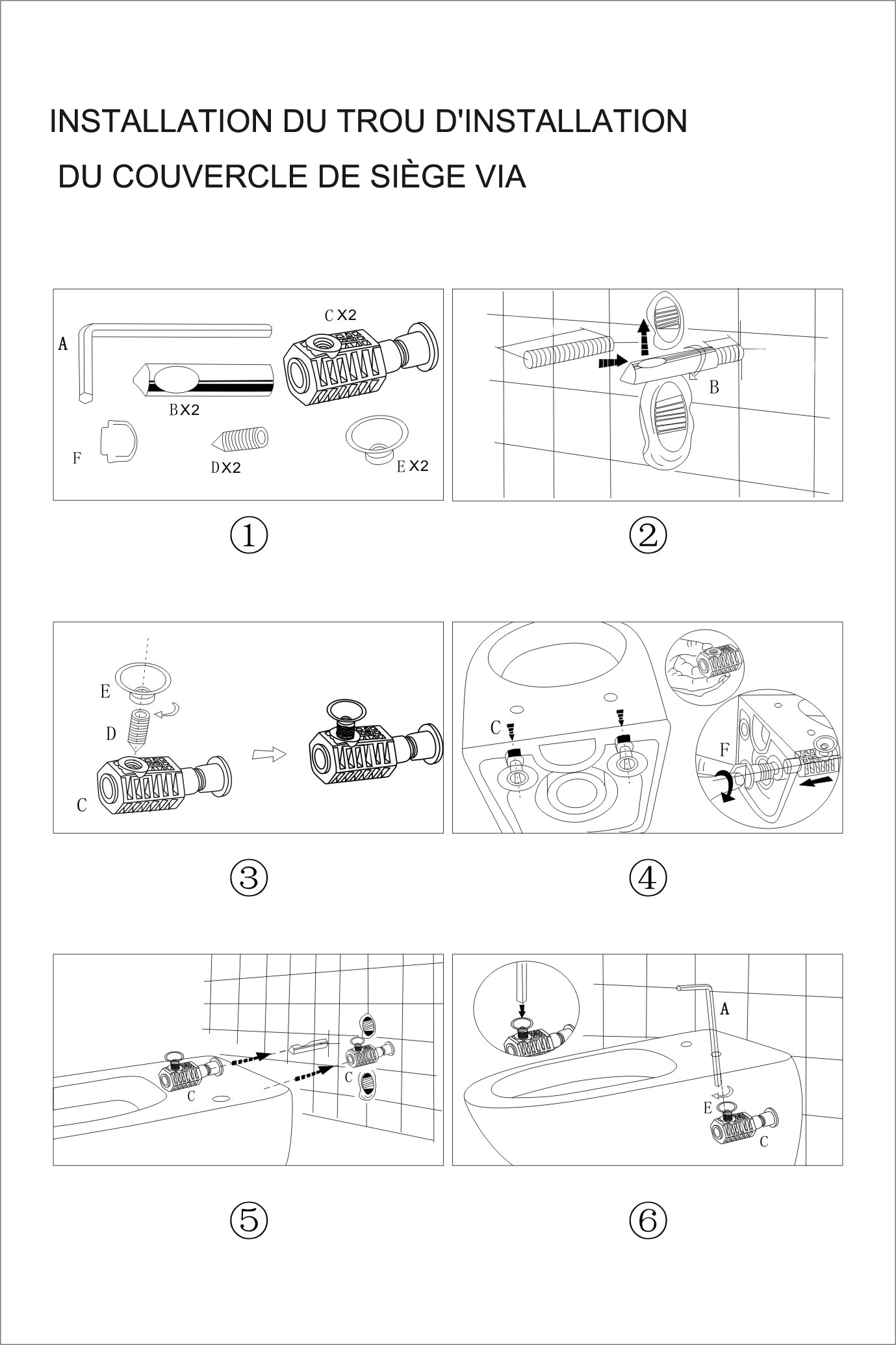 TECHNICAL DRAWING 4. Notice d'installation wc BF24