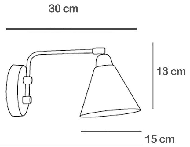TECHNICAL DRAWING schema-applique-vintage-laiton