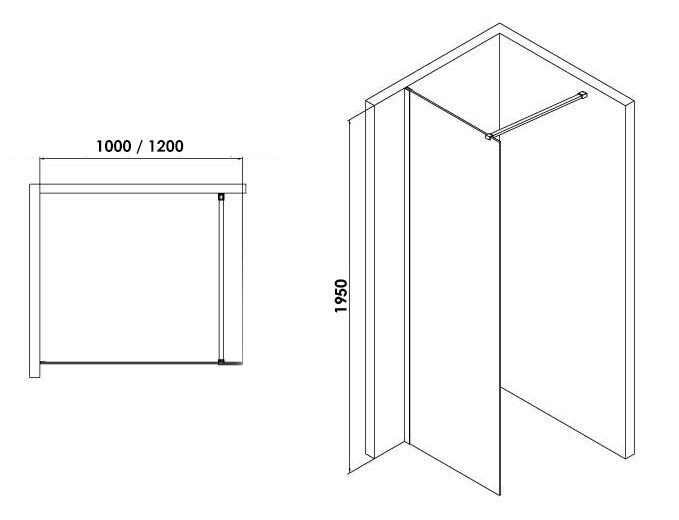 TECHNICAL DRAWING schema-paroi-walk-in-blanc