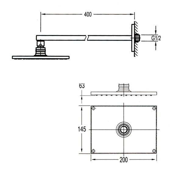 TECHNICAL DRAWING Douche-de-tete-Nova-FHB09-S16-te