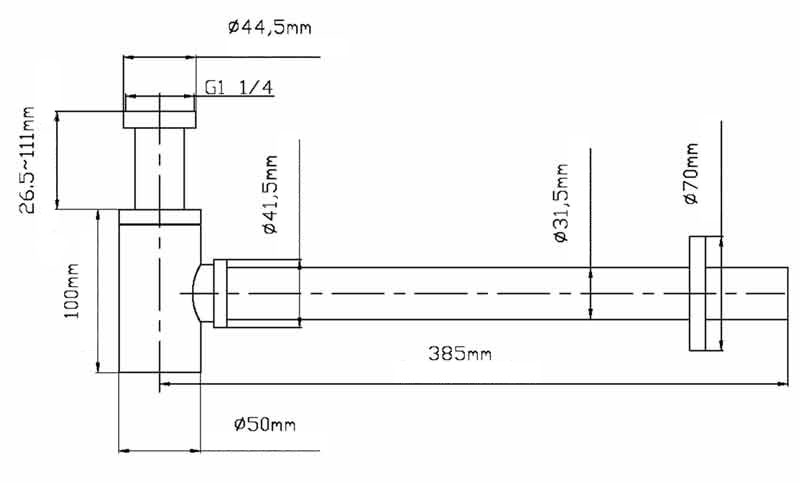TECHNICAL DRAWING schema-siphon