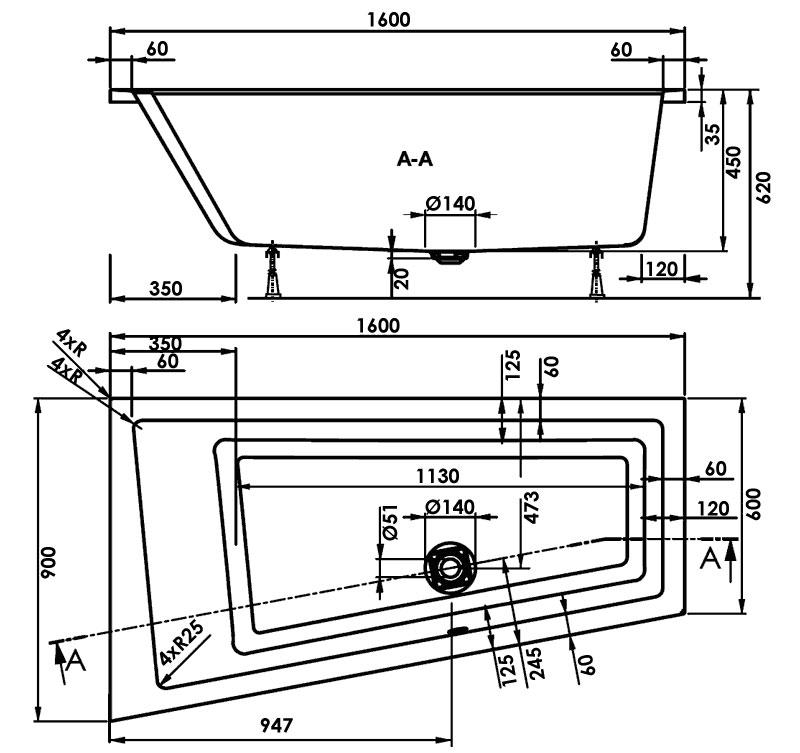 TECHNICAL DRAWING schema-cavallo-gauche