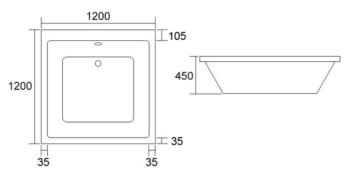 TECHNICAL DRAWING schema-baignoire-quadra