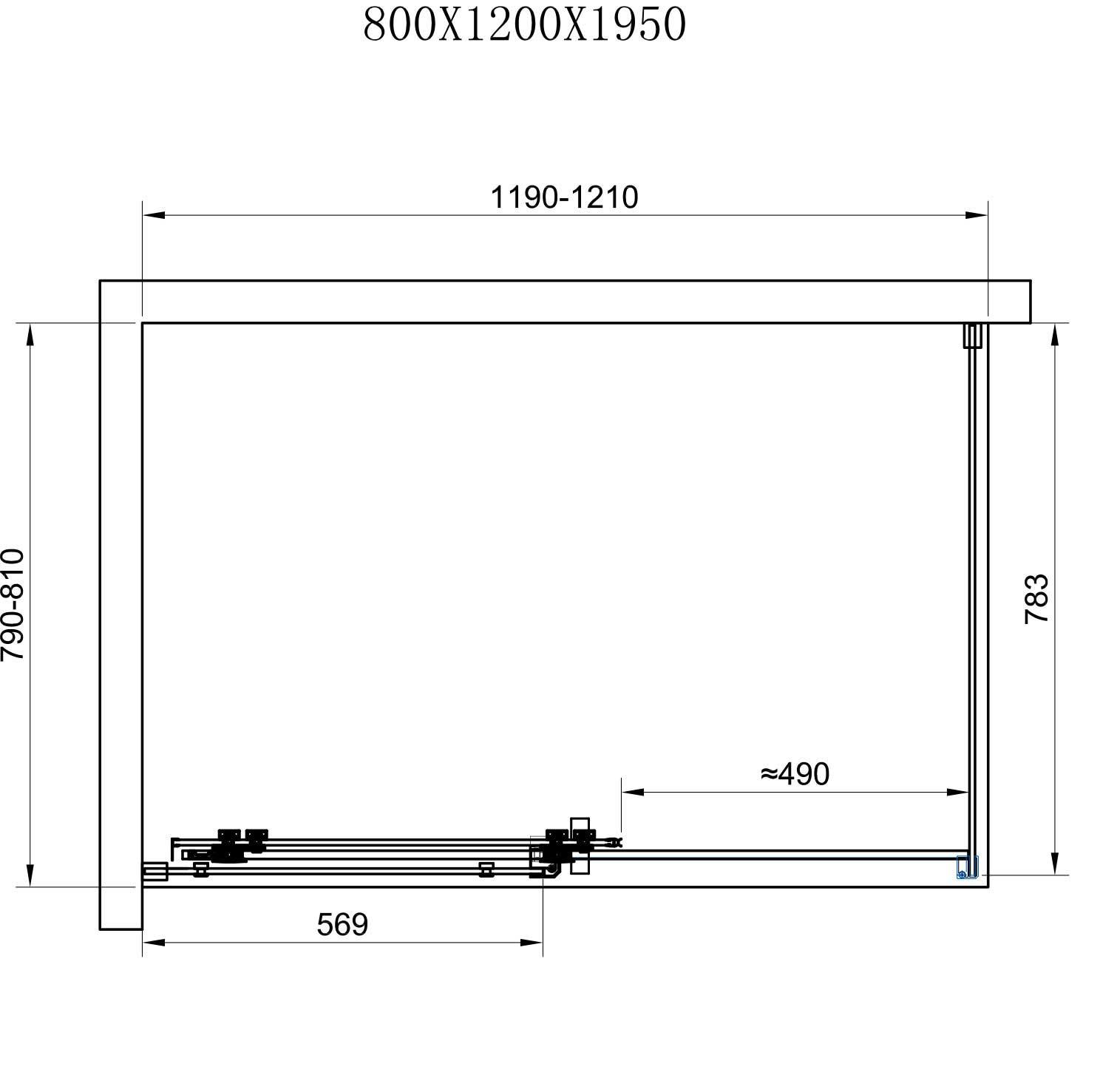 TECHNICAL DRAWING schema-cabine-almeria-80cm