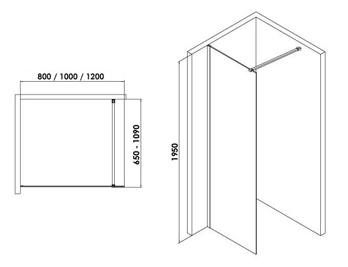 TECHNICAL DRAWING schema-walk-in-80-100-120