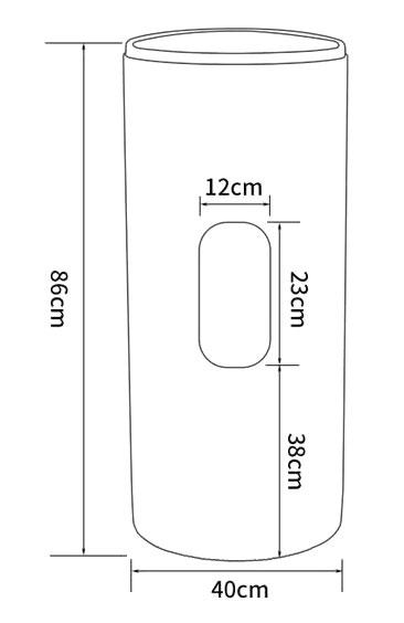 TECHNICAL DRAWING schéma arrière totem
