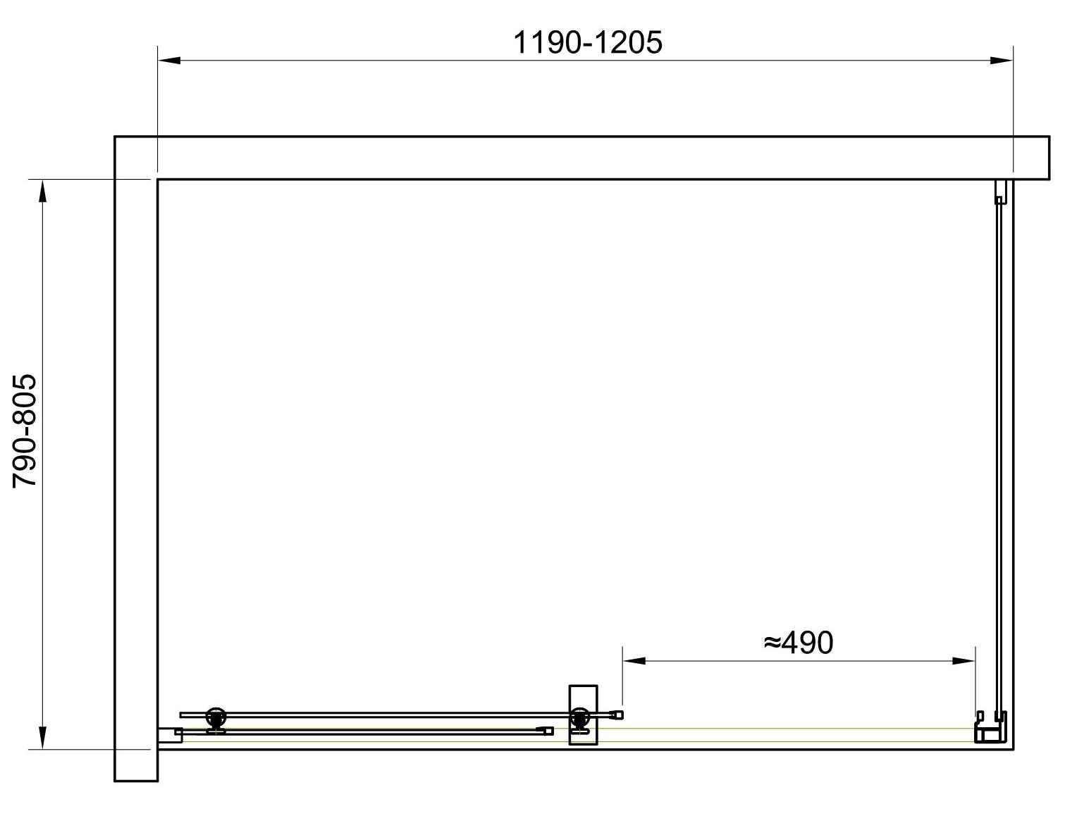 TECHNICAL DRAWING schema-cabine-malaga-120x80