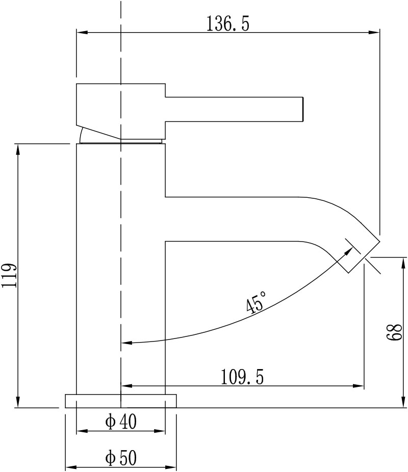TECHNICAL DRAWING schema-mitigeur-lave-main