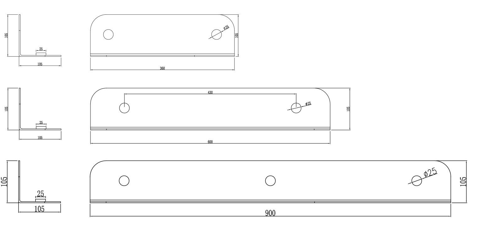 TECHNICAL DRAWING schema-etageres-inox