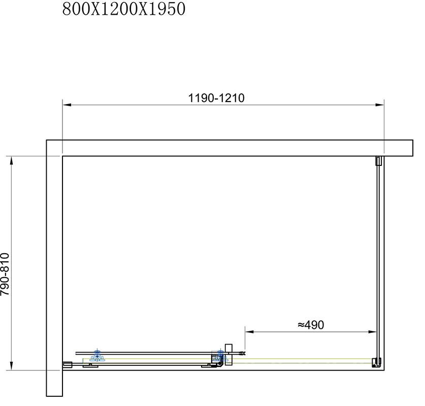TECHNICAL DRAWING schema-cabine-merida-120x80