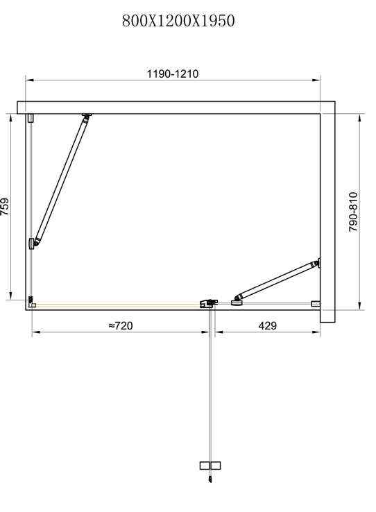 TECHNICAL DRAWING schema-cabine-orense-120x80