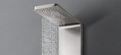 panneau de douche hydromassant balance mitigeur acier. Black Bedroom Furniture Sets. Home Design Ideas