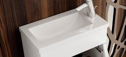 mini meuble lave mains 3 finitions 40x22 cm