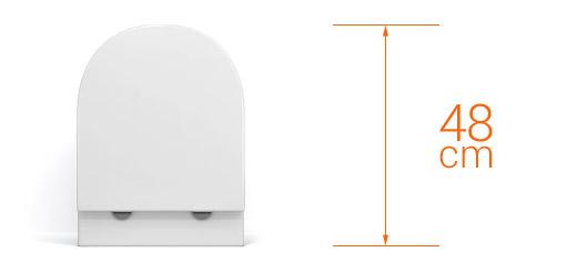 Wc suspendu rimless stelvio compact blanc abattant slim - Wc faible profondeur ...