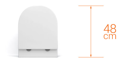 wc suspendu rimless sorba compact blanc 48 cm abattant slim. Black Bedroom Furniture Sets. Home Design Ideas