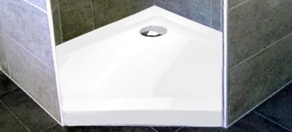 receveur de douche pentagonal 80x80 ou 90x90 cm acrylique bora. Black Bedroom Furniture Sets. Home Design Ideas